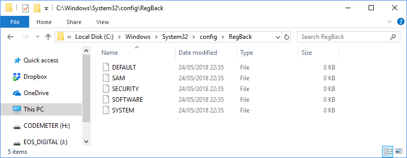 How to enable Windows 10 registry for backups how to enable windows 10 registry for backups How to enable Windows 10 registry for backups C Windows System32 config RegBack
